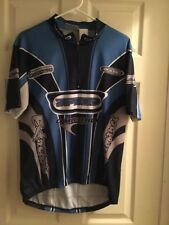 Athletic Works Velo City Speed Cycling Bike Blue Jersey Shirt Men's Size Large