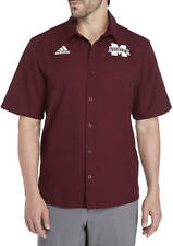 NWT ADIDAS Mississippi State Bulldogs Sideline Button Down Shirt Men's XL $70