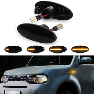 For Nissan Qashqai J10 X-trail T31 Dynamic LED Side Marker Blinker Signal Light