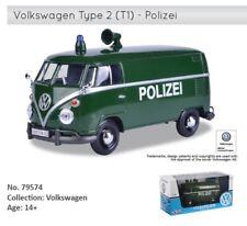 1:24 Scale VW Volkswagen 1962 T1 Type 2 Polizei Police Diecast Model Van Bus