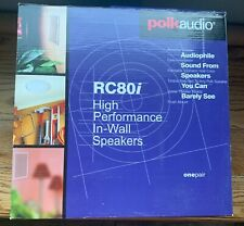 "1 pair Polk RC80i SPEAKERS: white, 8"", In-Wall High-Performance. NEW in box."