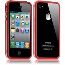 Housse Etui Coque Bumper pour Apple iPhone 4/4S couleur rouge