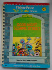 Fisher Price Talk To Me Book #10, Good Night Sesame Street, Jim Henson, 1979