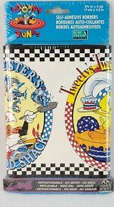 "LOONEY TUNES Self Adhesive Wallpaper Borders 1995 tweetybird  6 3/4""x5yd vtg NEW"
