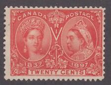 Canada 1897 #59 Queen Victoria Diamond Jubilee Issue MH F