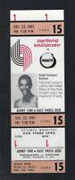 VINTAGE 1983-1984 NBA ROCKETS @ TRAILBLAZERS FULL TICKET - RALPH SAMPSON