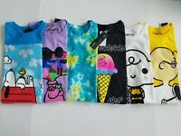 Peanuts Mens Snoopy Charlie AVAF Short Sleeve Crew Neck Graphic T Shirt