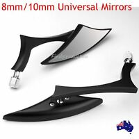 2x Black Billet Spear Motorcycle Rear View Mirrors For Victory Hammer 8-Ball