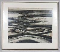 """Otto Eglau, 1961. """" Salzseen """"  Farbradierung Nr. 60/100.  Tunesien.ca.49x40cm"""