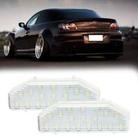 Car LED License Plate Light for Mazda RX-8 RX8 2004-2014 Mazda 6 2007-2011. F9A2
