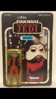 Nien  Nunb Vintage Star Wars Figure Boxed 65 Back.