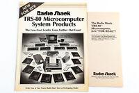 Vintage Radio Shack TRS-80 Catalog & Informational Brochure 1978