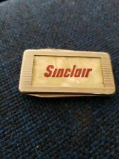 Sinclair Gas Oil Advertising Stainlees Steel Money Clip & Pocket Knife