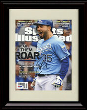 Framed Eric Hosmer Sports Illustrated Autograph Print Kansas City Royals Champs!