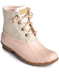 Sperry Women's Saltwater Rose/Oat Rain Boot Size 8.5