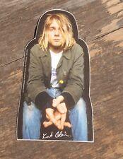 "Vintage Kurt Cobain Nirvana Rock Band Sticker 2"" x 3 3/4"" +"