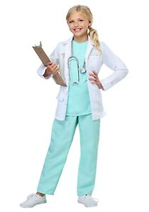 Girl's Doctor Surgeon Costume SIZE M (Used)