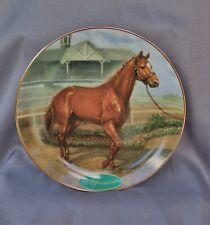 Danbury Mint Legendary Racehorses Affirmed by Susie Morton Plate # A1575