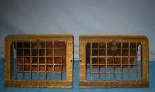 Lot 2 1905 Antique Cast Iron Ornate Vent Register Floor Grates Louvers Unusual!