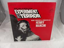 Henry Mancini Experiment in Terror Vinyl Original Press 1962
