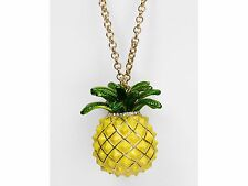 Kate Spade Any Way You Slice Pineapple Long Pendant Necklace, NWT