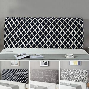 1pc Checked Headboard Cover Household Home Decor Bedside Dustproof Slipcover