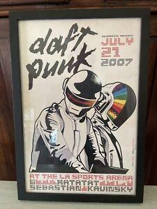 Daft Punk 7/21/2007 LA Sports Arena Poster Gianni Rossi 364/500 Framed