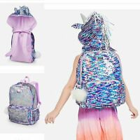 NWT JUSTICE Unicorn Flip Sequin Hooded Backpack Same or Next day Ship Priority