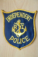 Patches- INDEPENDENT RI, POLICE PATCH (NEW,apx. 10.5x9 cm)