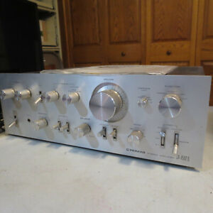 Vintage Classic Pioneer silverface SA-8500 II Integrated Amplifier -works great!