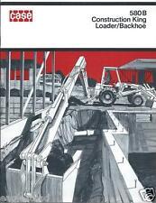 Equipment Brochure Case 580 B Construction King Loader Et Al C1971 E2137