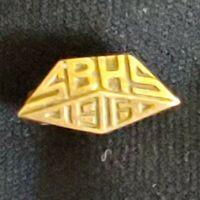 ESTATE ANTIQUE 1916 14K YELLOW GOLD SBHS HIGH SCHOOL LAPEL PIN Santa Barbara?