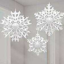 Paper Snowflake Hanging Fans - 30cm - 40cm Christmas Decorations