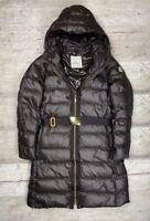 Auth Women's MONCLER NANTES Brown Down Winter Jacket Coat Parka Size 2 S/M
