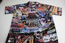 e29922e9 RARE Disney Walt Disney Dinoland Pirate Magic Mickey Donald Artwork Camp  Shirt M