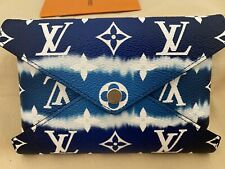 NEW LOUIS VUITTON MEDIUM BLUE LV ESCALE KIRIGAMI POCHETTE SUMMER 2020 MEDIUM NEW
