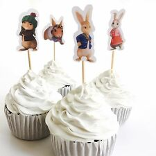 12x Peter Rabbit Cupcake Toppers *HANDMADE*. Party Supplies Lolly Loot Bags