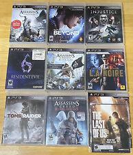Lot Of 9 PlayStation 3 PS3 Games Assassins Injustice Resident Evil 6 Tomb Raider