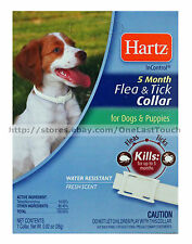 "HARTZ* InControl 5 Month FLEA & TICK COLLAR Up to 22"" Neck FOR DOGS & PUPPIES"