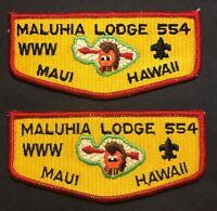OA MALUHIA LODGE 554 MAUI COUNTY COUNCIL HAWAII BSA PATCH THIN S5a SERVICE FLAP