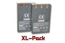 2x Akku für Canon Digital Ixus 300, 330, V, V2, V3 750mAh 3.6V Li-Ion