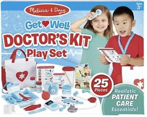 Melissa & Doug Get Well Doctor's Kit Play Set, The Original (25 Pieces) NEW