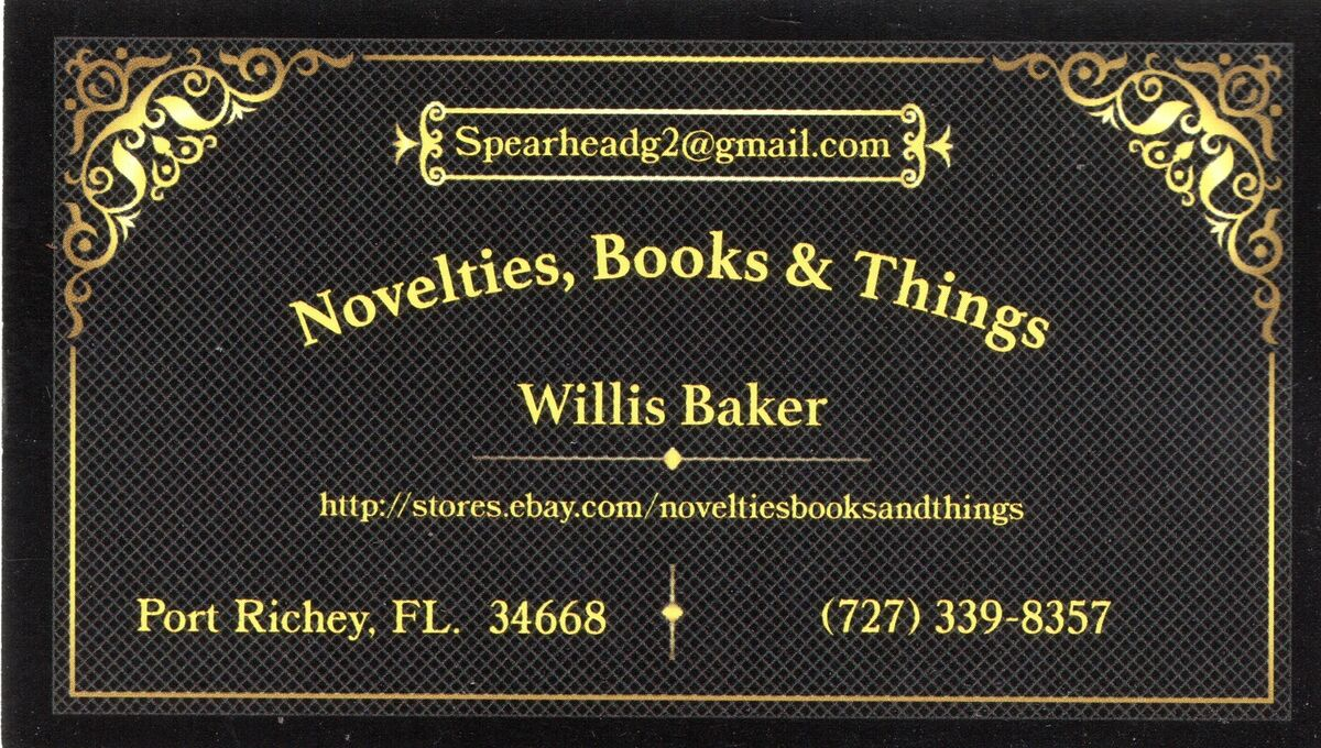 Novelties, Books and Things