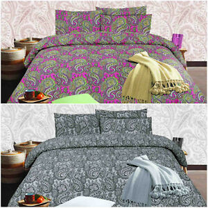 Kashmir Design Premium Quality Printed Duvet Quilt Cover Bedding Set All Sizes