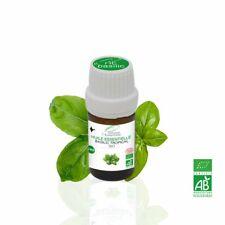 Huile Essentielle BIO Basilic Tropical 5ml. ABLabel, Ecocert Bio 100 % Pure.