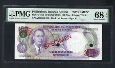 Philippines 100 Piso 1949 ND(1969) P147s2 Specimen TDLR  Uncirculated Grade 68