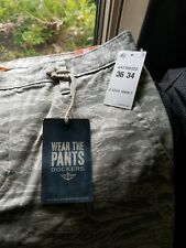NWT - Dockers Alph(a) Collection Slim Tapered Khaki Print Pants - 36W 34L