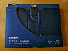 "LEATHER Sleeve Tagus TES606EU 13.3"" Ultrabook & Apple Macbook Black"
