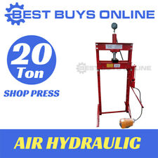 20 TON SHOP PRESS AIR HYDRAULIC Sliding head Right-Left with Gauge & Foot Pedal