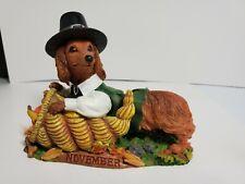 Danbury Mint Dachshund November Calender Dog Figurine